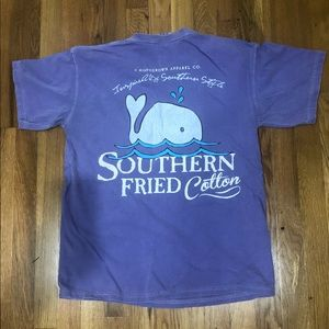 🧺 SOUTHERN FRIED COTTON Purple Whale T Shirt M